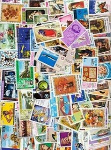 Largest Stamp Collection photo, Maximum Number of Stamps on a Parcel picture, Manoj Kumar Mondal stamps collection image