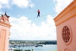 Highest bicycle ride without a safety net video, Daredevil Attempts High-wire Record, Nik Wallenda stunts video, Nik Wallenda photo, Nik Wallenda picture, King of The High Wire
