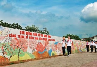 World's Longest Ceramic Painting picture, Hanoi ceramic road project, Longest Ceramic Painting guinness world record, longest ceramic painting in the world, ceramic painting in Vietnam