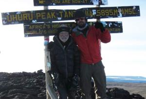 George Solt photo, Oldest man to climb the largest Kilimanjaro mountain picture, largest Kilimanjaro mountain climb Guinness World Record, world's largest free-standing mountain
