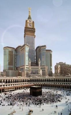 World's biggest clock photo, World's largest clock picture, largest clock in the world, biggest clock in Saudi Arabia, Mecca's famed Grand Mosque, World's biggest clock 2010 video, royal mecca clock tower