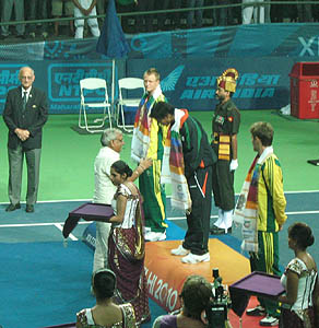 Somdev Devvarman wins maiden Tennis Gold medal, Somdev Devvarman picture, Somdev Devvarman wins in Commonwealth Games 2010, Somdev Devvarman wins Tennis Gold medal, Commonwealth Games men's singles champion