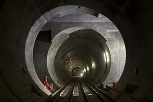 Gotthard Base Tunnel picture, Switzerland Longest Rail Tunnel, 2011 World's Longest Rail Tunnel, Twin-bore rail tunnel, Longest Rail Tunnel in the world 2011, Gotthard Base Tunnel photo, Switzerland Guinness Record 2011