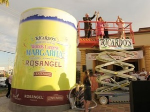 World's Biggest Pink Margarita photo, World's largest Pink Margarita picture, Ricardo's Mexican Restaurant Guinness Record, Biggest Pink Margarita in the world, World's Largest pink Margarita video