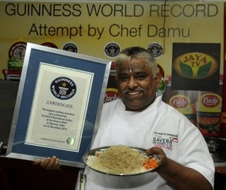 World's Longest Cooking Marathon, Indian Chef Damu Guinness World Record 2011, Indian Chef Damu photo, Indian Chef Damu Cooking video, Longest Cooking Marathon 2011, Indian Chef Damu World Record 2010, Chef K. Damodaran Guinness World Record