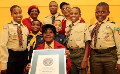 world's longest-serving den mother photo, Dwight Eisenhower picture, Brooklyn's Cub Scout groups Guinness World Record 2011, longest serving den mother in the world
